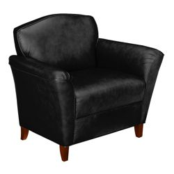 Contemporary Club Chair in Leather