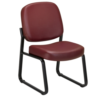 Armless Guest Chair in Vinyl