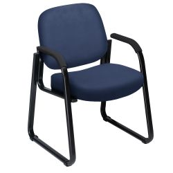 Guest Chair with Arms in Vinyl