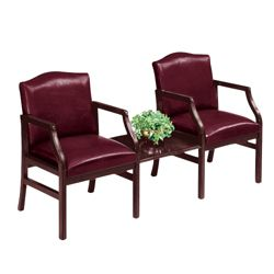 2 Chairs and Center Table in Standard Upholstery