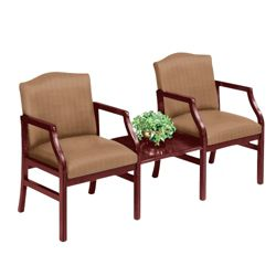 2 Chairs & Center Table in Heavy Duty Upholstery