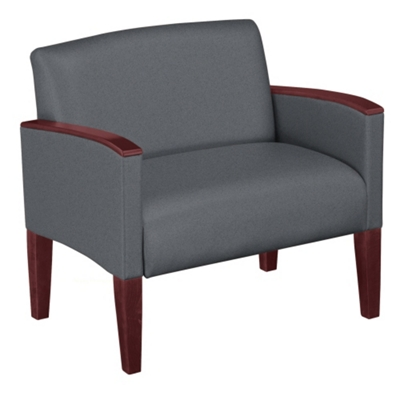 Extra Large Guest Chair in Solid Fabric