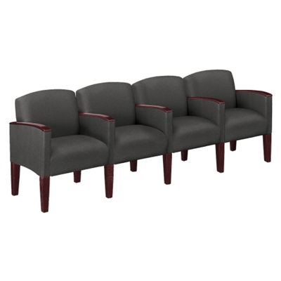 Four Seat Sofa In Print Fabric or Vinyl