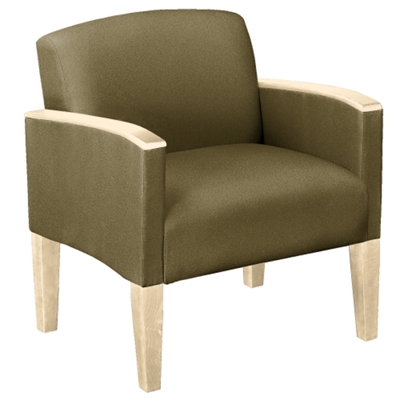 Large Guest Chair in Print Fabric or Antimicrobial Vinyl