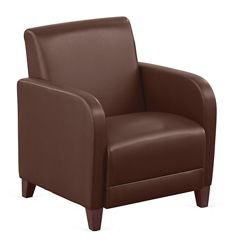 "Parkside Guest Chair in Faux Leather - 27""W"