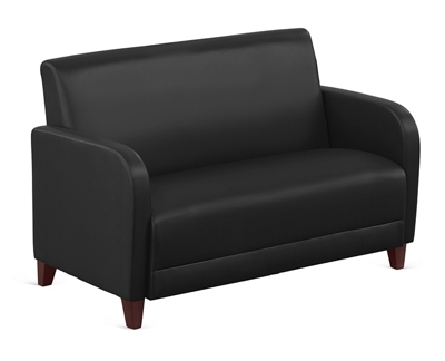 "Parkside Loveseat in Faux Leather - 50""W"