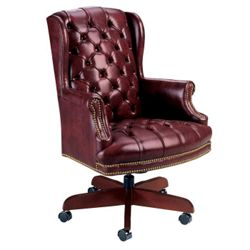 Traditional High Back Executive Leather Swivel Chair