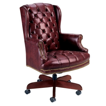 Tufted Wing Back Leather Desk Chair From High Point Furniture 4078 Nationalbusinessfurniture