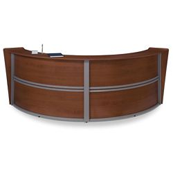 "Marque Double Reception Station - 124.25""W x 49""D"