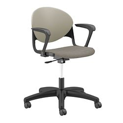 Plastic Back Task Chair with Black Frame