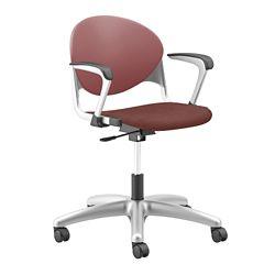 Plastic Back Task Chair with Platinum Metallic Frame