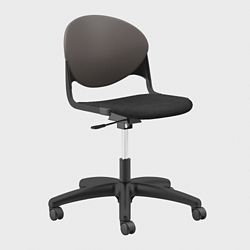 Plastic Back Armless Task Chair with Black Frame