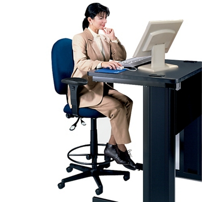 High Back Ergonomic Stool with Arms