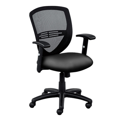 Network Mesh Back Faux Leather Seat Task Chair