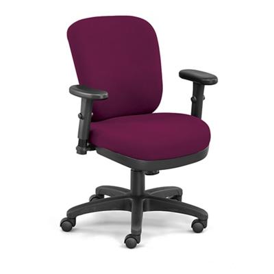 Compact Ergonomic Fabric Chair
