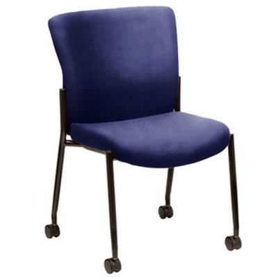 Live II Armless Stack Chair with Casters
