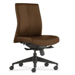 Armless Mid-Back Fabric Ergonomic Task Chair