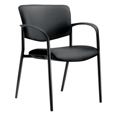 Low Back Leather Stackable Guest Chair