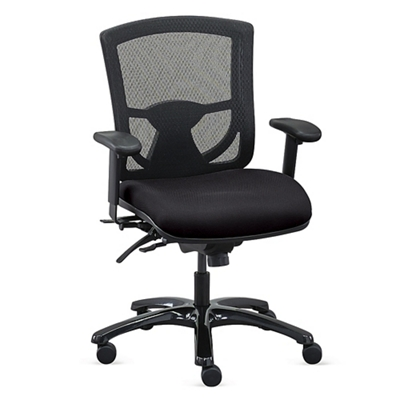 Overtime 24/7 Mesh Back Chair with Fabric Seat