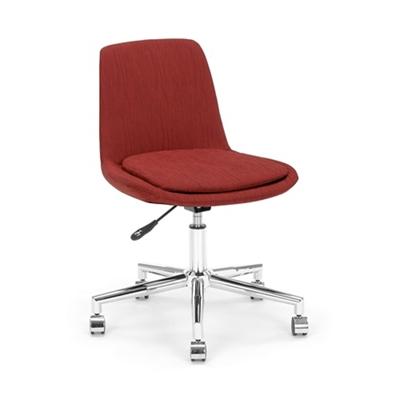 Armless Fabric Swivel Chair