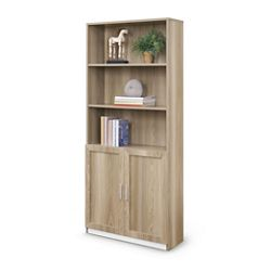 """At Work 72""""H Bookcase with Doors"""