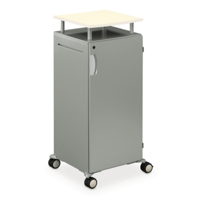 Mobile Lectern with Storage Unit
