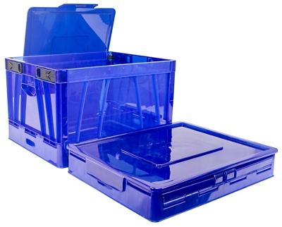 Set of Four Folding Storage Crates