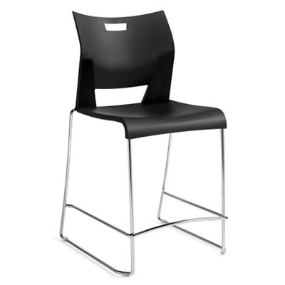 Armless Sled Base Counter Height Stool