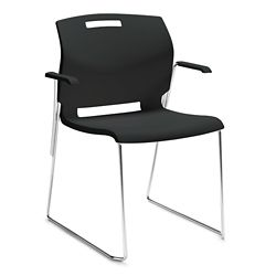 Sled Base Stack Chair with Arms