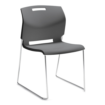Sled Base Armless Stack Chair