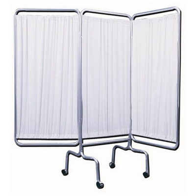 """Three Panel Mobile Folding Privacy Screen - 69""""H"""