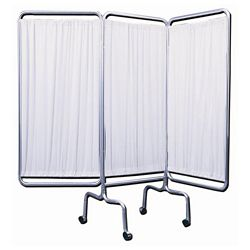 "Three Panel Mobile Folding Privacy Screen - 69""H"