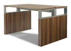 """Standing Height Conference Table with Metal Accents - 72""""W x 48""""D"""
