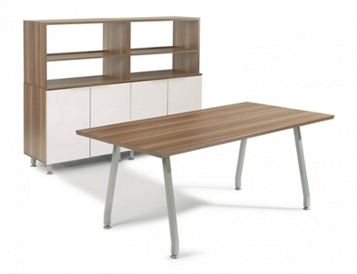 "72""W Desk with Storage"