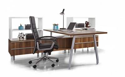 "Desk Set with Storage - 72""W x 108""D"
