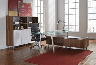 Glass Desk Office Set