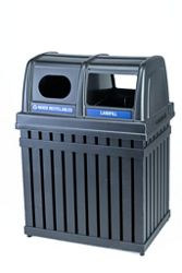 50 Gallon Double Waste Receptacle