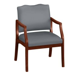 Spencer Arm Chair in Solid Fabric 400lb Weight Capacity