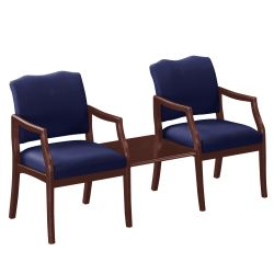 Spencer Two Chairs in Solid Fabric with Square Table