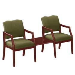 Spencer Two Chairs with Square Table in Print Fabric or Vinyl