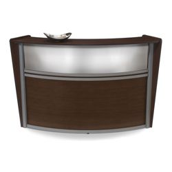 "Marque Single Reception Station with Plexi-Panel - 72""W x 32""D"