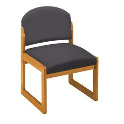 Armless Sled-Base Guest Chair