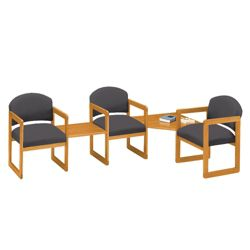 Three Chairs with Corner and Center Table Set