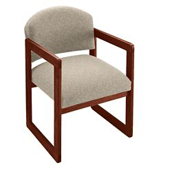 Premium Upholstered Sled Base Guest Chair with Arms