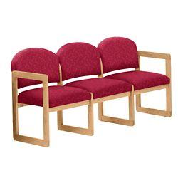 Premium Upholstered Three-Seat Sofa