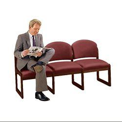 Premium Upholstered Armless Three-Seat Sofa