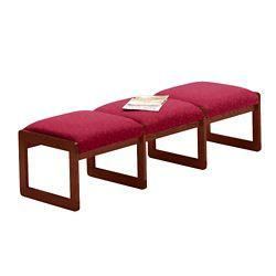 Premium Upholstered Three-Seat Bench