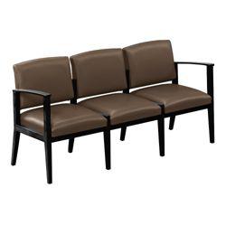 Ridgewood Vinyl Three Seat Sofa with Center Arms