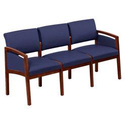 New Castle Fabric Three Seat Panel Arm Sofa
