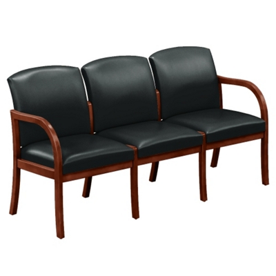Vinyl Three Seat Sofa
